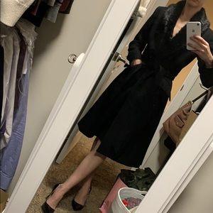 Black Coat with faux fur trim